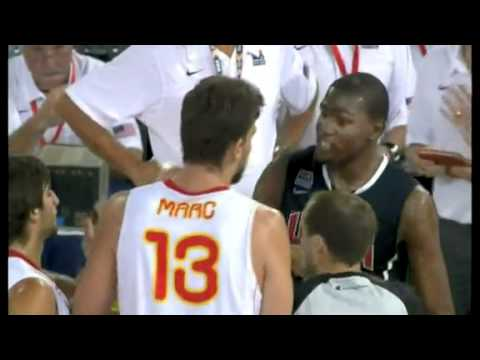 USA Basketball Vs Spain Game Recap 08/22/2010  [Crazy Game] Durant MVP