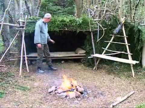 build a wilderness shelter, survival skills 7 of 7 - YouTube