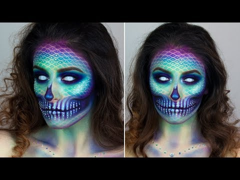 Mermaid Skull | Halloween Make up Tutorial