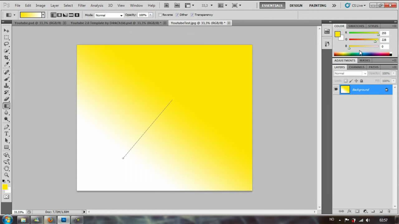 Photoshop CS5 - How to make a professional YouTube background tutorial ...