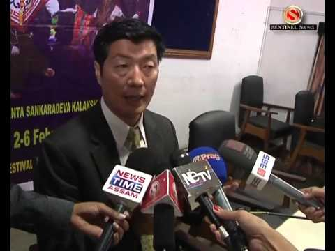 Lobsang Sangay r Press Meet