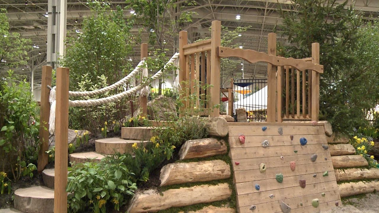 Bienenstock natural playgrounds at 2012 canada blooms youtube - Natural playgrounds for children ...