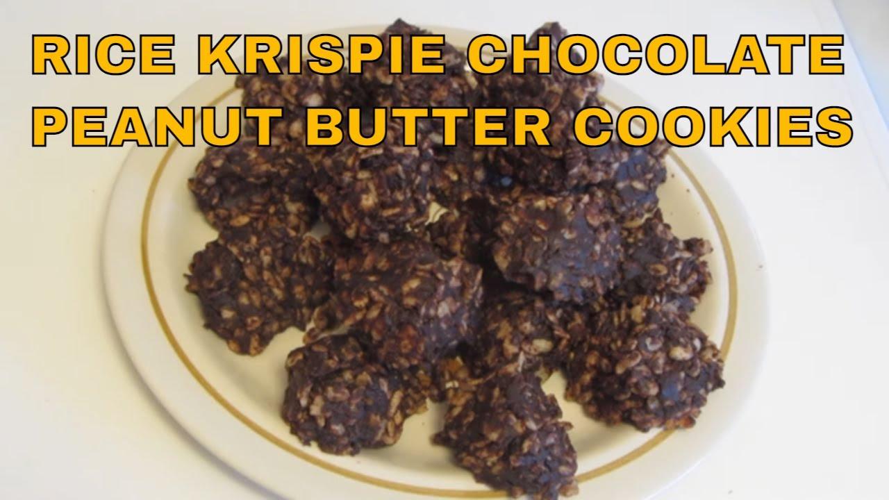 Rice Krispie Chocolate Peanut Butter Gluten Free No Bake Cookies ...