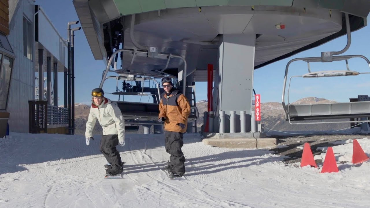 Video: Kevin Pearce and Jack Mitrani explain: How To Get On And Off a Chair Lift