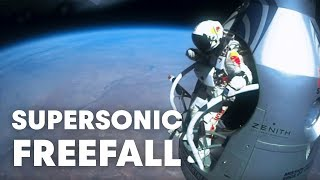 Felix Baumgartner's Supersonic Freefall From 128k