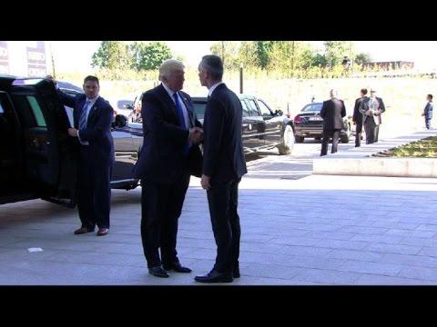 Trump participe à son premier sommet de l'Otan à Bruxelles