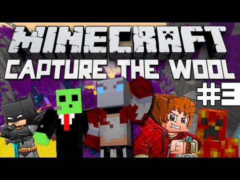 Minecraft Capture the Wool! Game #3 w/Bajan Canadian, xRpMx13, and More!