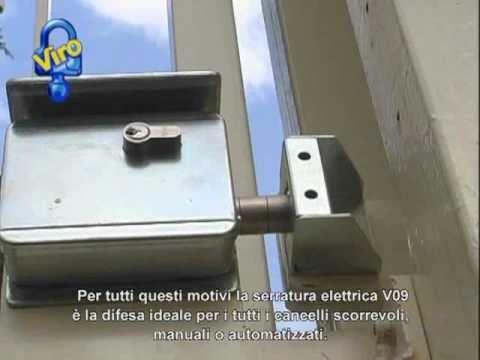 Serrature per cancelli scorrevoli, con cilindro europeo di sicurezza