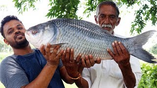 10 kg Big Fish Recipe Cooking By Our Grandpa | Big Fish Curry Donating to Orphans