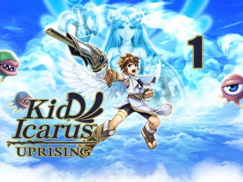Kid Icarus Uprising Walkthrough - Part 1 [Chapter 1] Return of Palutena 3DS (Gameplay / Commentary)