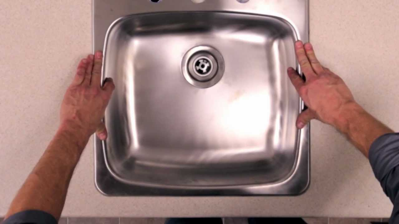 Rona Kitchen Sinks : RONA - How to Install a Kitchen Sink - YouTube