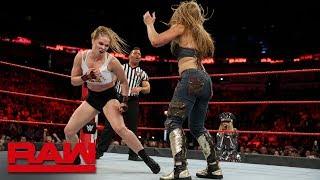 Ronda Rousey & Natalya vs. Alexa Bliss & Mickie James: Raw, Sept. 10, 2018