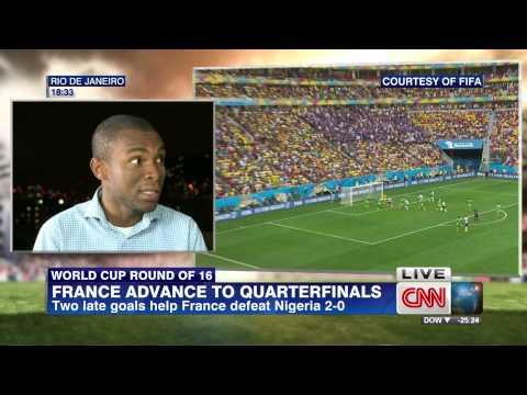 #Brazil2014: Gary Al-Smith speaks on France 2-0 Nigeria for CNN