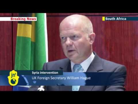UK foreign secretary William Hague comments on Syria