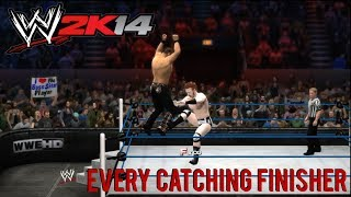 WWE 2K14 Every Catching Finisher/Mid Air Finisher