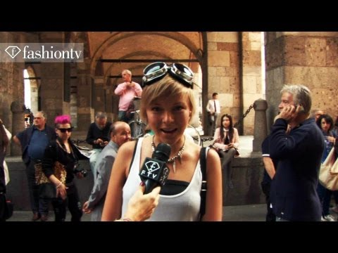 Trendsetters at RoccoBarocco Spring/Summer 2014: F People | MILAN Fashion Week MFW |  FashionTV
