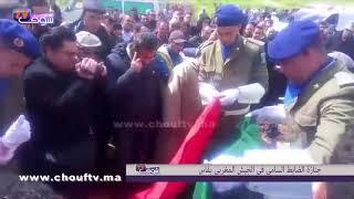 لحظة دفن جثمان الضابط السامي في الجيش ضحية فاجعة أمسكرود بمسقط رأسه بفاس | خارج البلاطو