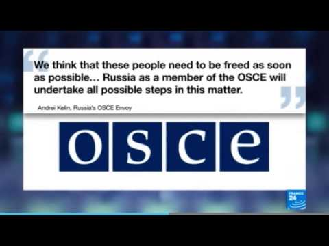 Slaviansk rebels declare OSCE observers 'prisoners of war'