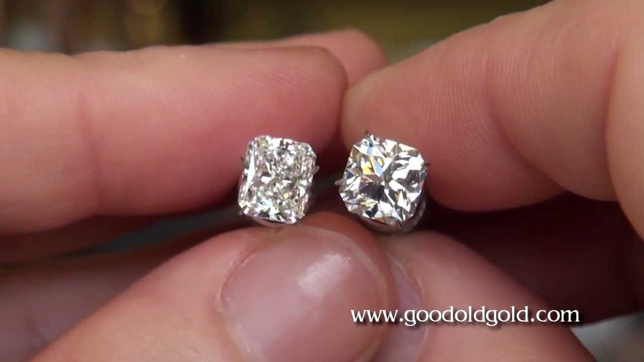 Cushion Cut Diamond Cushion Cut Diamond Vs Round Diamond