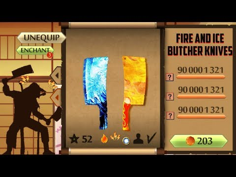 Fire And Ice Butcher Knives Shadow Fight 2