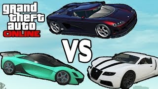 "GTA Online ""GROTTI TURISMO R"" BEST CAR? (Adder Vs Entity"