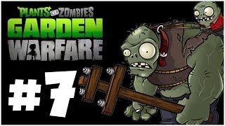 Plants vs. Zombies Garden Warfare Walkthrough - HARD MODE!! Co-Op - PART 7 (Xbox One 1080p HD)