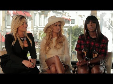 X-Factor: Demi Lovato, Kelly Rowland & Paulina Rubio Interview