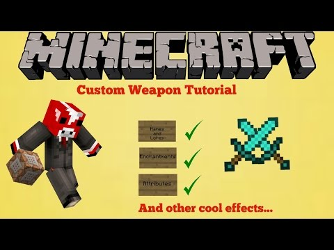 Minecraft | Command Block Tutorial: Custom Weapons in Vanilla Minecraft
