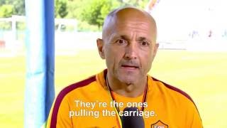 Here's the story of AS Roma's second day in Pinzolo