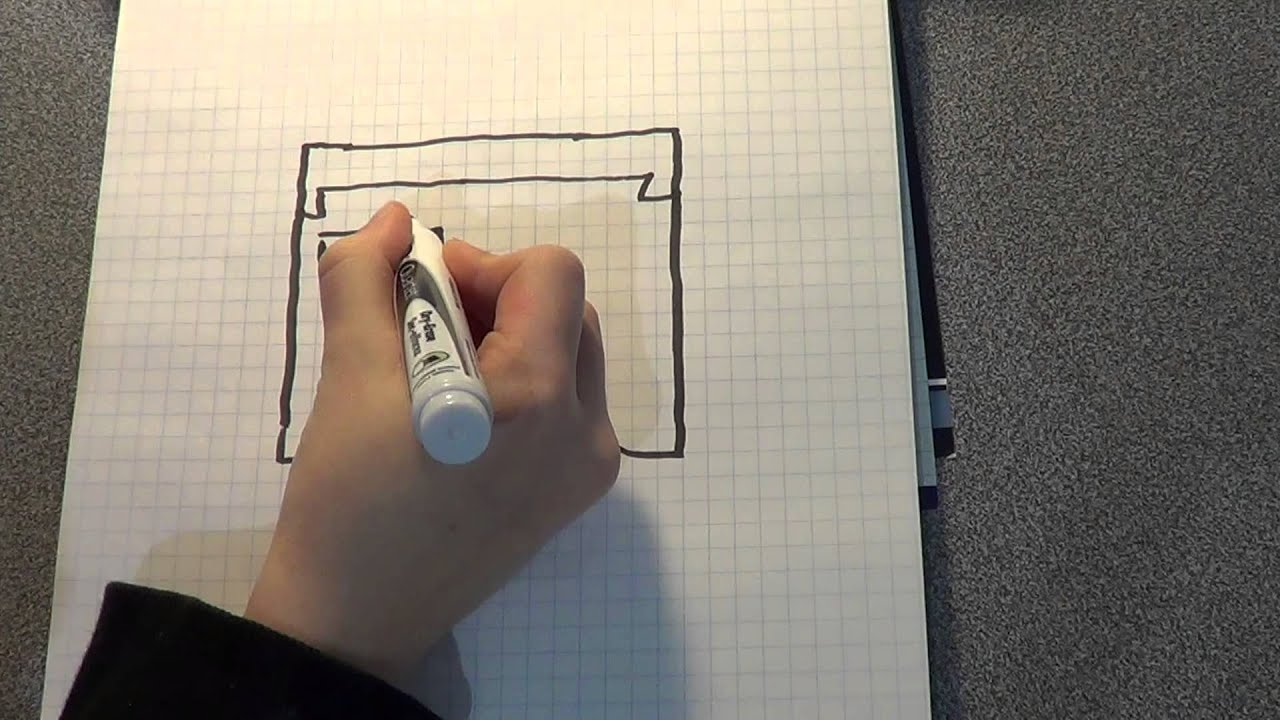 how to draw a minecraft head