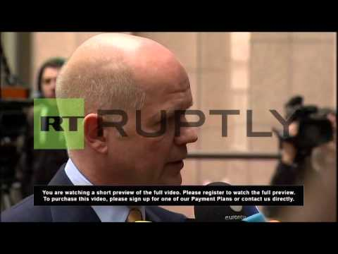 Belgium: EU foreign ministers arrive for meeting on Ukraine
