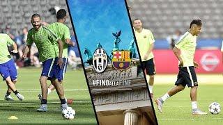 Juventus-Barcellona, la vigilia - The build-up