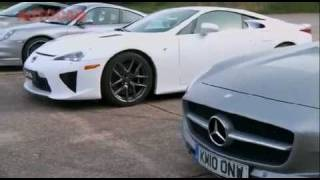 2011 - 911 Turbo S, SLS 63, LFA or GT-R (Drag Race) What