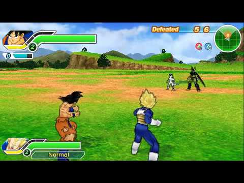 DBZ Tenkaichi Tag Team Survival Goku and Vegeta (Gogeta and Vegito Finishers) - PSP games