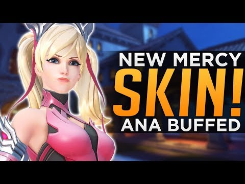 Overwatch: NEW Mercy Charity Skin! - Ana BUFFED Again!