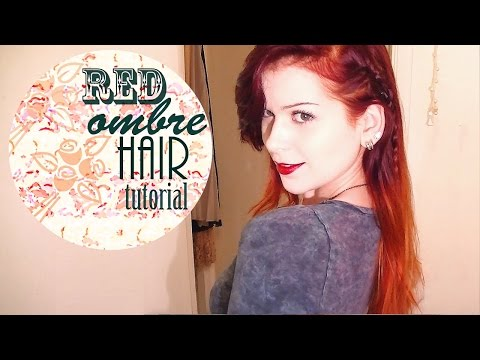 HOW TO GET FIERY HAIR - RED OMBRE