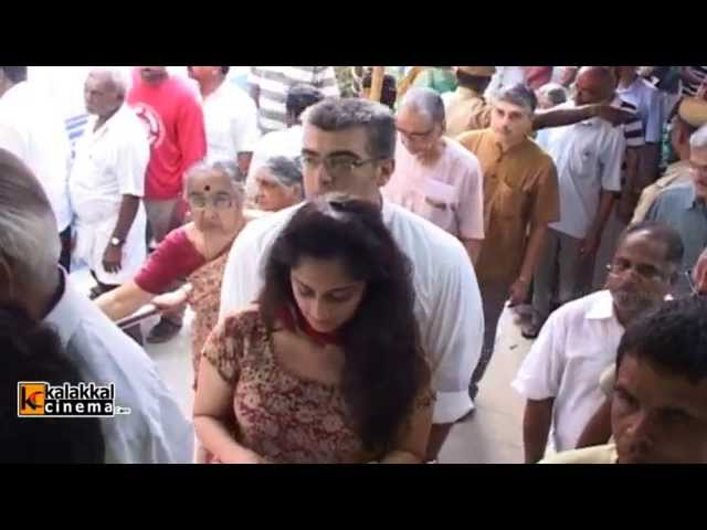 Ajith and Shalini Polls Vote in Elections