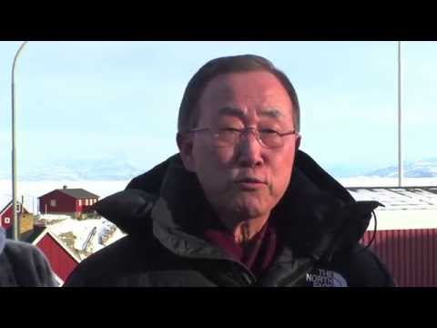 Ban Ki-moon visits UNESCO World Heritage site Ilulissat in Greenland
