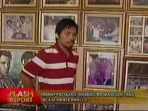 Pacquiao breaks silence over Krista Ranillo issue
