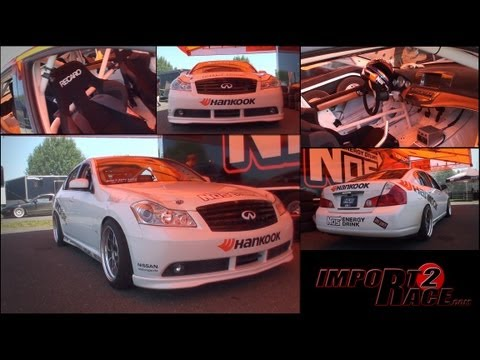 M45 Infiniti Drifting- Chris Forsberg Ride along with Import2race