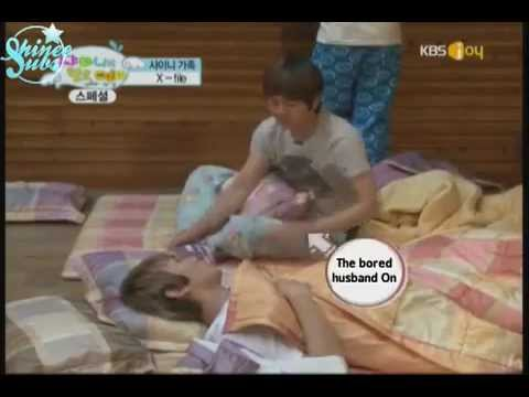 [ENG SUB] Onew Tickling Key - SHINee (Behind the Scenes of Hello Baby)