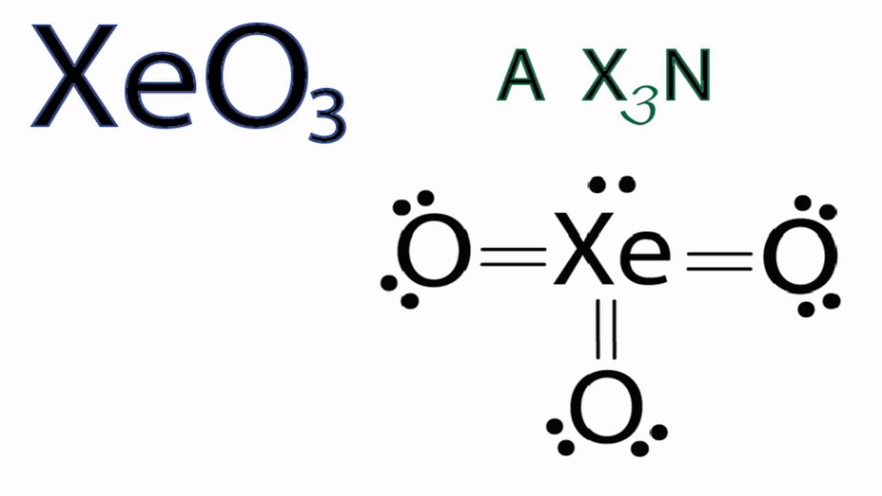 xeo3 molecular geometry    shape and bond angles