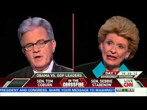 Crossfire: U.S. Senators Debbie Stabenow and Tom Coburn (part 1/3)