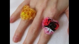 Rainbow Loom- How To Make A Kaleidoscope Heart Ring