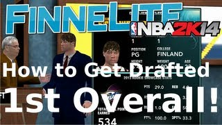 NBA 2K14: My Career How To Get Drafted 1st Overall! Rookie