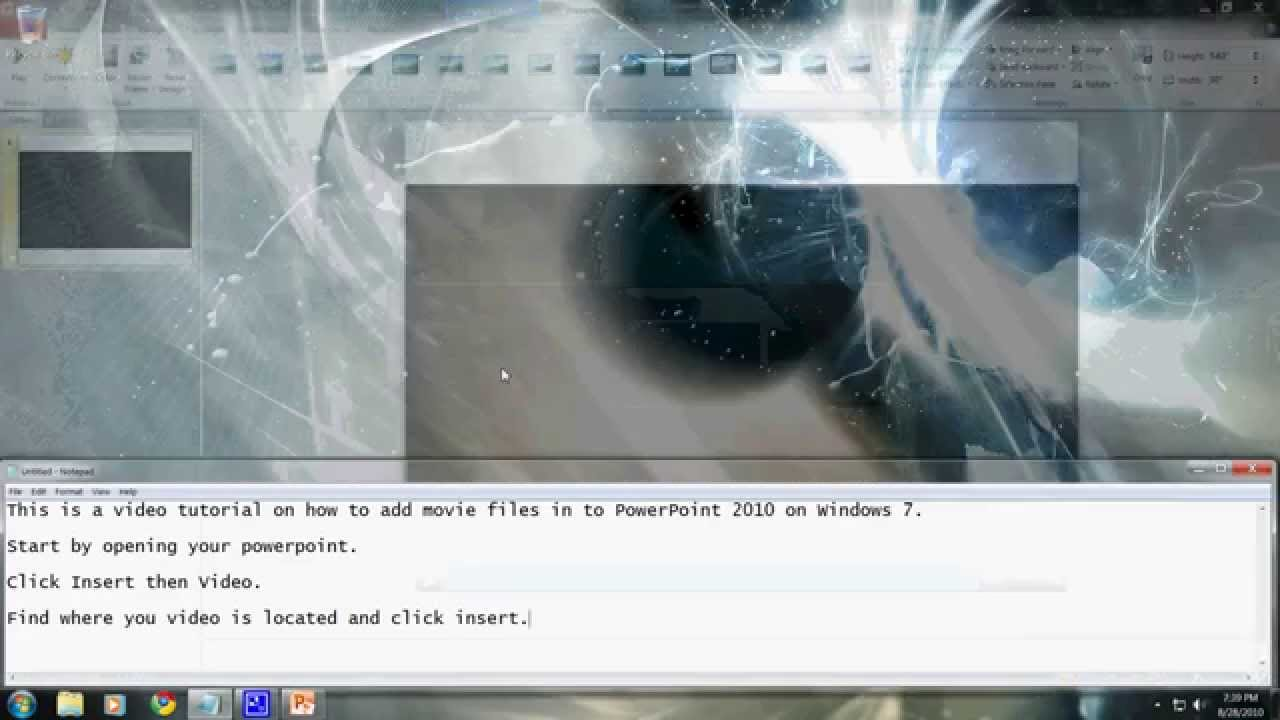 how to add a movie to powerpoint from youtube