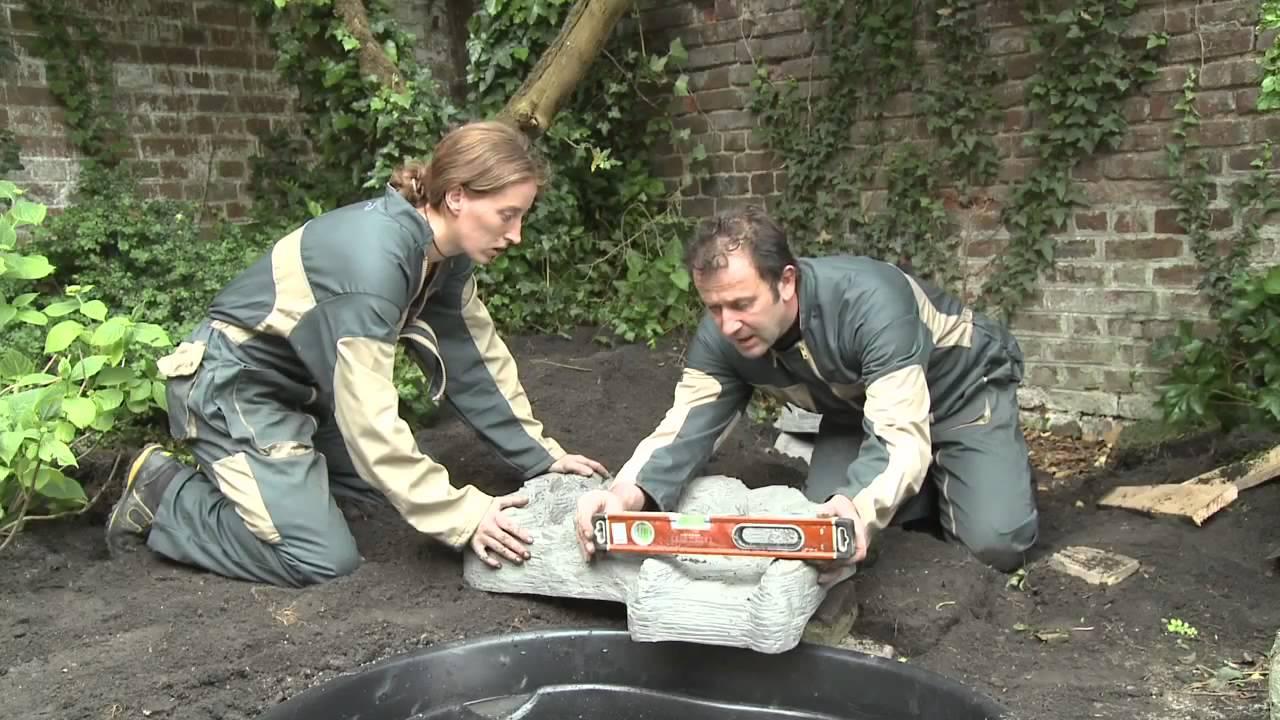 Construction bassin pr fabriqu pr form pour bassin de jardin youtube - Deco bassin de jardin ...