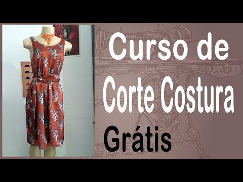Corte e Costura passo-a-passo Vestido Fácil de Fazer - Vestido com Elástico