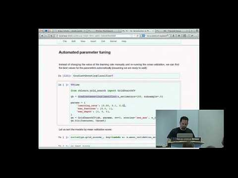 Olivier Grisel, Jake Vanderplas: Diving deeper into Machine Learning with Scikit-learn - PyCon 2014