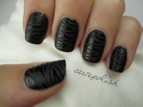 Black Zebra Nail Art Tutorial